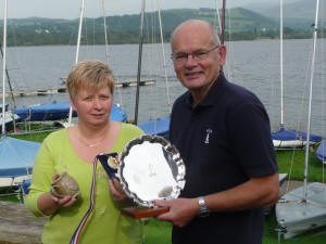 Overall winner David Warren with Elaine Hunt